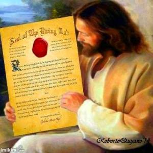 Jesus with the Seal of The Living God