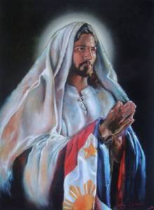 Jesus Christ and The Philippines National Flag