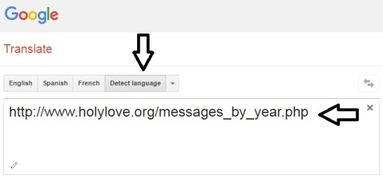 Google Translator - Holy Love Ministry - Step One