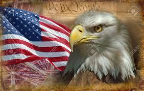 American Flag - bald eagle